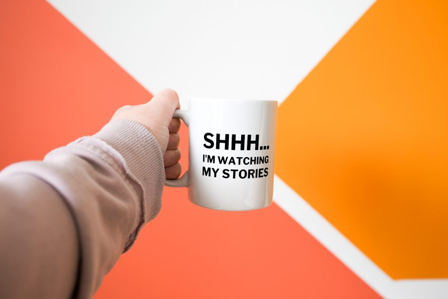 Shhh I'm watching my stories mug