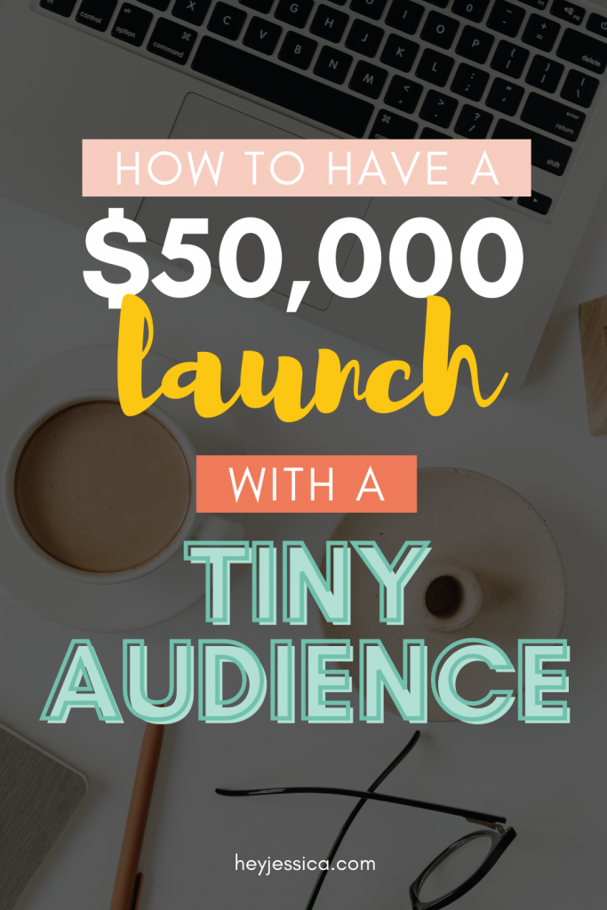 $50,000 course launch with a tiny audience
