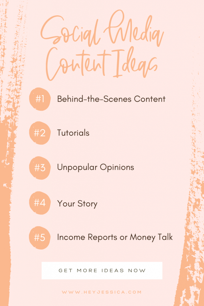10 content ideas for social media