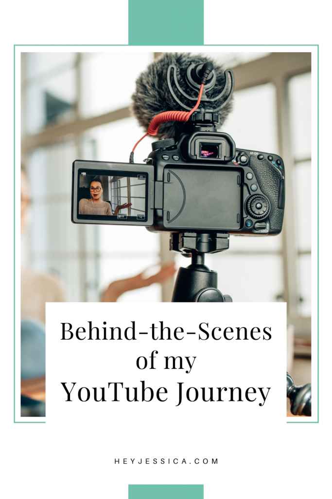behind the scenes of my youtube journey
