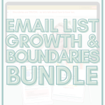 email list growth and boundaries